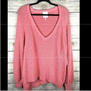 Free People Oversized Knit Pullover Sweater XS